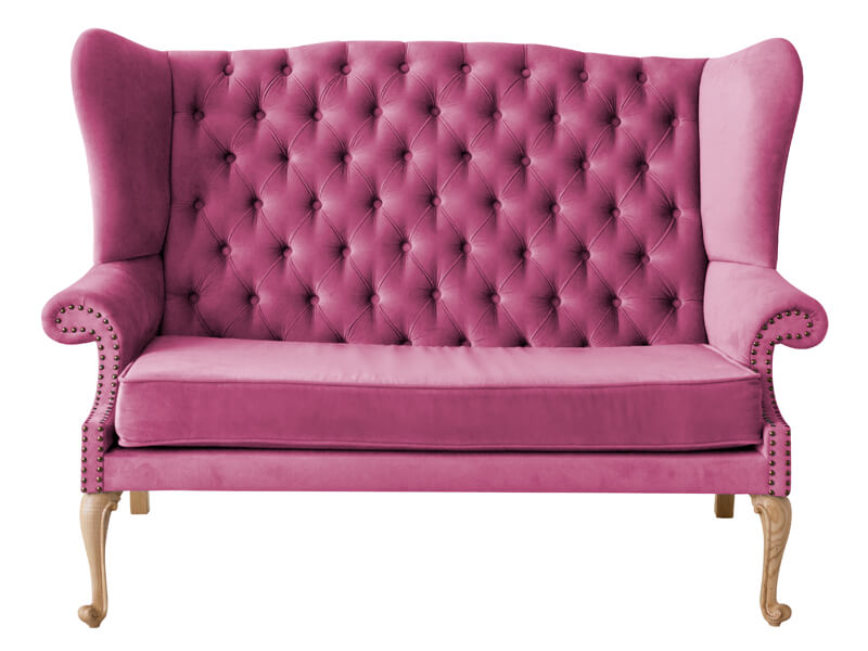 pink upholstery sofa