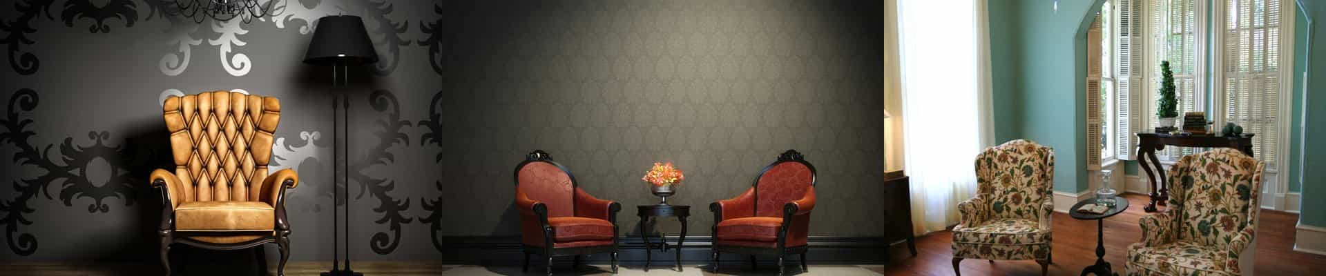 red patterned fabric upholstery